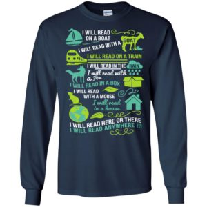 I will read on a boat gift for book lovers or who love reading long sleeve