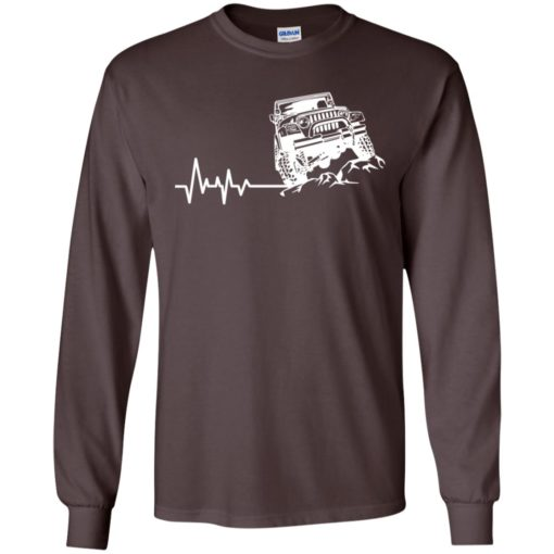 Unlimited heartbeat love jeep shirt jeep lover driver owner addicted long sleeve