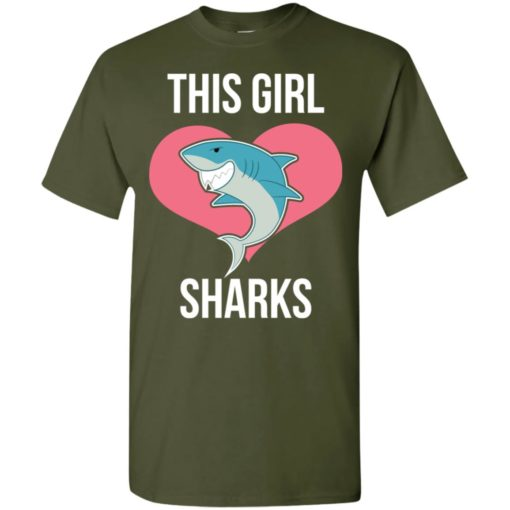 This girl loves sharks funny gift for shark lover t-shirt
