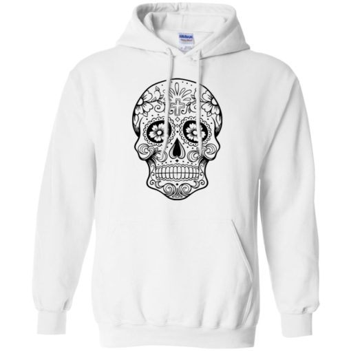 Mexican skull art 1 skeleton face day of the dead dia de los muertos hoodie