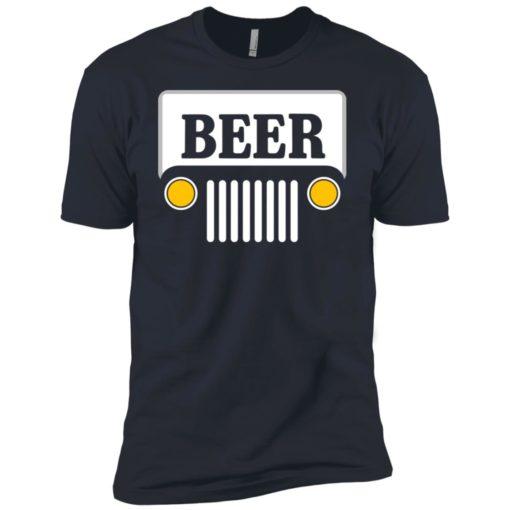 Beer jeep road trip premium t-shirt