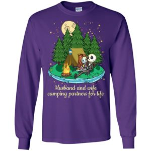 Jack skellington and sally husband and wife camping partners for life long sleeve