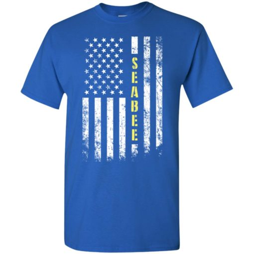 Proud seabee miracle job title american flag t-shirt