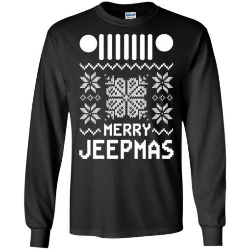 Merry jeepmas ugly christmas long sleeve