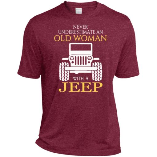 Never underestimate old woman with jeep sport t-shirt