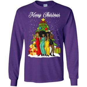 Dancing black girls merry christmas long sleeve