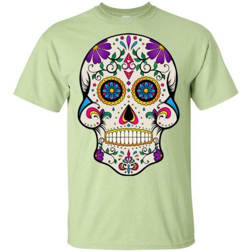 Mexican skull art 7 skeleton face day of the dead dia de los muertos t-shirt