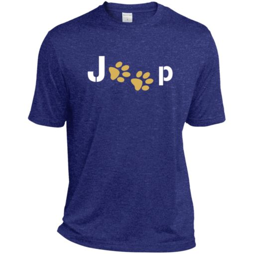 Jeep with dog paw sport t-shirt