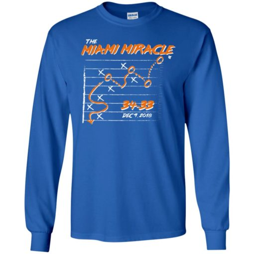 The miami dolphins miracle long sleeve