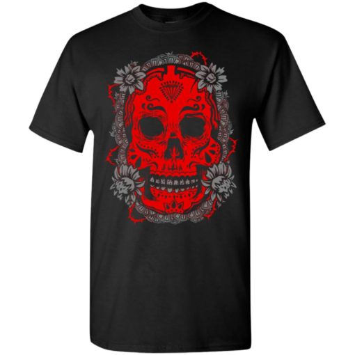 Mexican skull art 4 skeleton face day of the dead dia de los muertos t-shirt