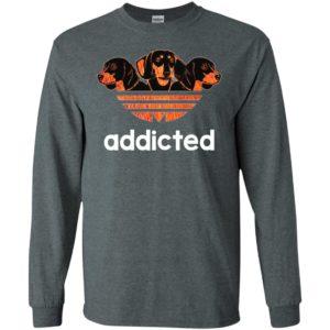 Dachshund addicted cool adidas style dog lover dogs mom long sleeve
