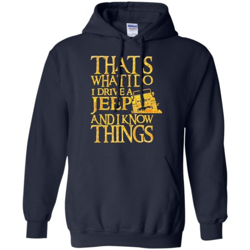 Thats what i do i drive jeep and i know things hoodie