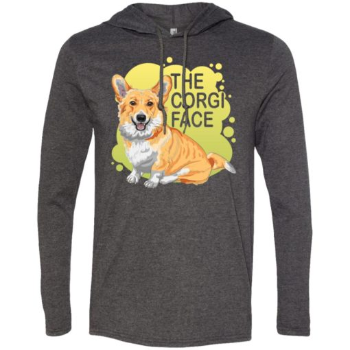 The corgi face gift i love corgi dog cute owner corgi lover long sleeve hoodie