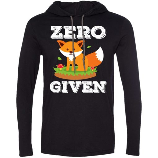 Zero fox given cute gift for animal lovers long sleeve hoodie