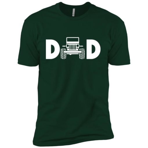 Jeep dad jeep father jeeps daddy premium t-shirt