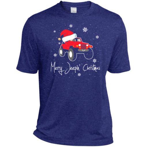 Merry jeepin christmas sport t-shirt