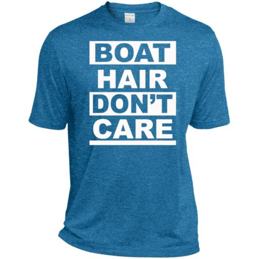 Vacation gift tee boat hair dont care sport tee