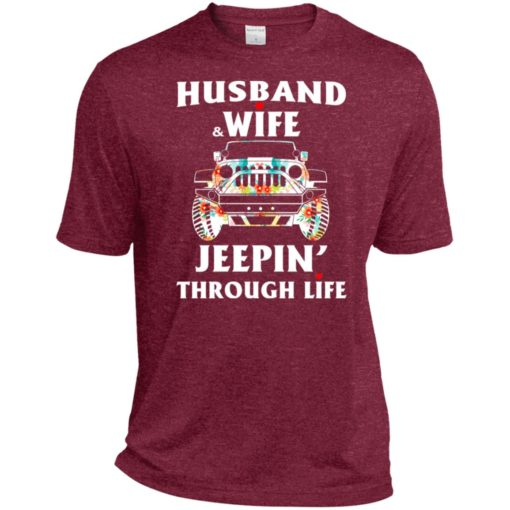 Husband and wife jeeping through life sport t-shirt