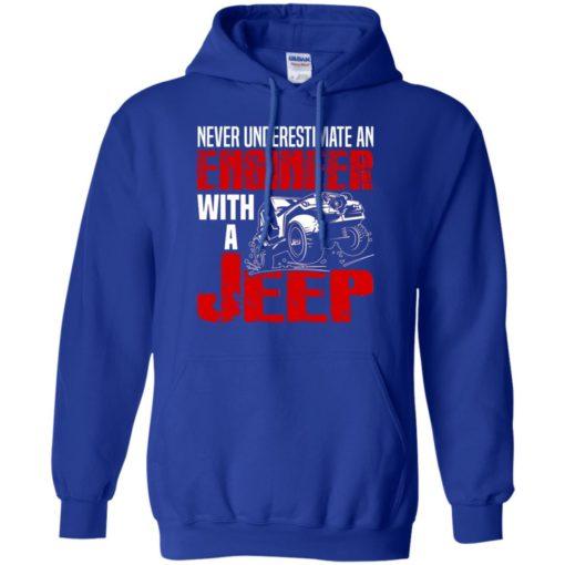 Never underestimate engineer with jeep hoodie