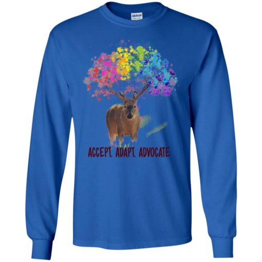 Autism deer accept adapt advocate long sleeve