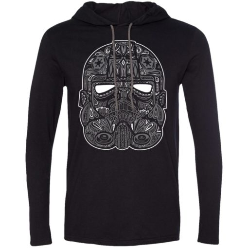 Mexican skull art 9 skeleton face day of the dead dia de los muertos long sleeve hoodie
