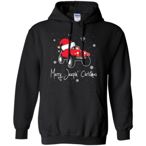 Merry jeepin christmas hoodie
