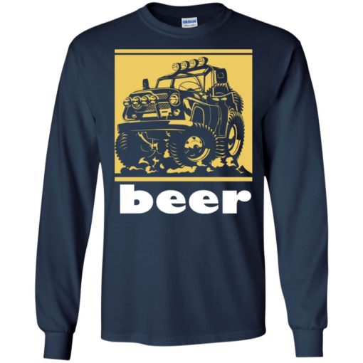 Funny beer alcohol jeep 4×4 drinking lover long sleeve