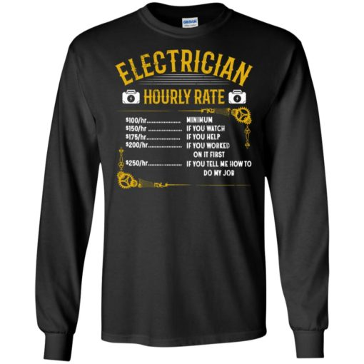 Electrician hourly rate long sleeve