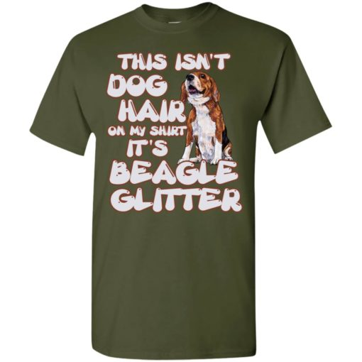 This isn't dog hair on my shirt it's a beagle glitter t-shirt