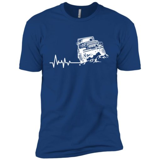 Unlimited heartbeat love jeep shirt jeep lover driver owner addicted premium t-shirt