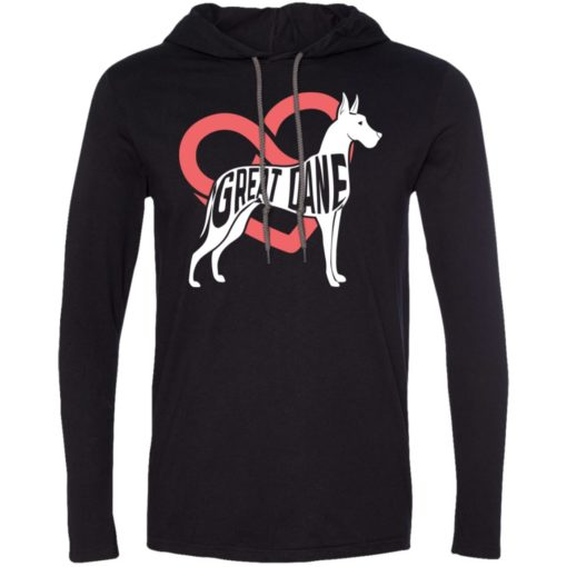 Dog lovers gift great dane infinite love long sleeve hoodie