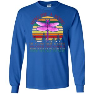 Dragonfly sing me a song of a lass that is gone say could that lass be i over the sea to skye retro vintage long sleeve