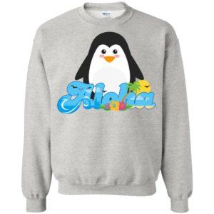 Aloha penguin animal gift cute kids hawaiian sweatshirt