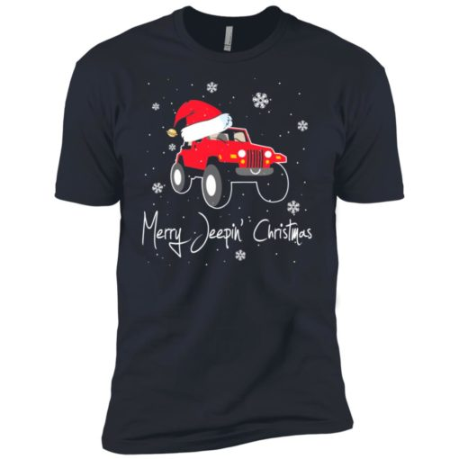 Merry jeepin christmas premium t-shirt