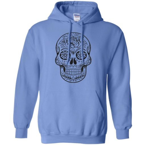 Mexican skull art 2 skeleton face day of the dead dia de los muertos hoodie