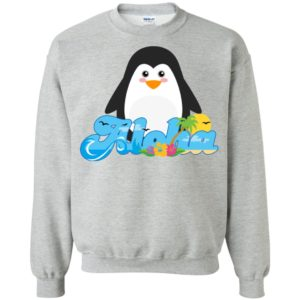 Aloha penguin animal gift cute kids hawaiian sweatshirt
