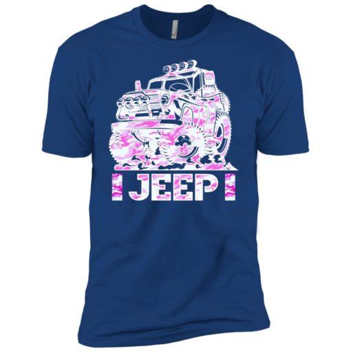 Jeep girl pink premium t-shirt