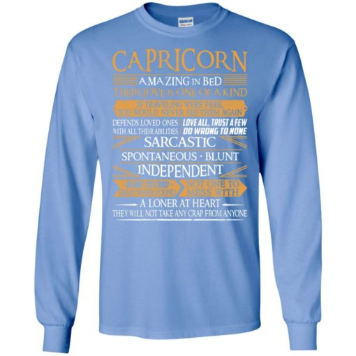 Capricorn amazing in bed their love is one of a kind sarcastic spontaneous blunt long sleeve