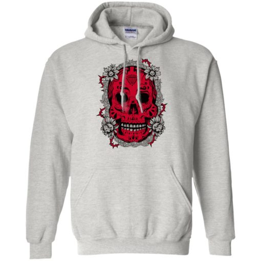 Mexican skull art 6 skeleton face day of the dead dia de los muertos hoodie