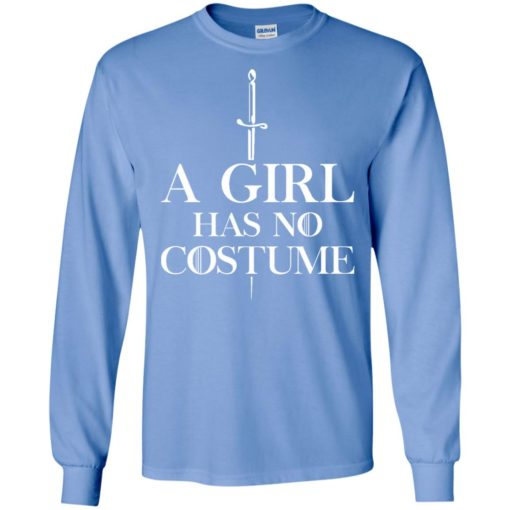 A girl has no costume long sleeve