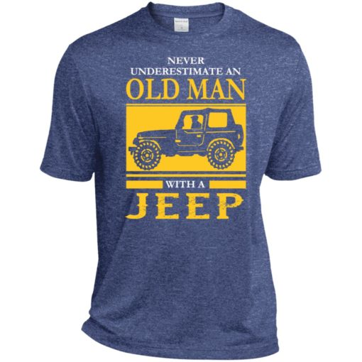 Never underestimate old man with jeep sport t-shirt