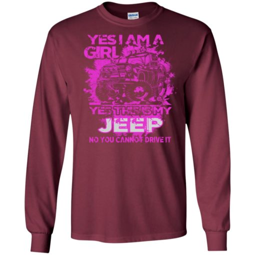 Yes i am a girl yes this is my jeep no you cann't drive it long sleeve