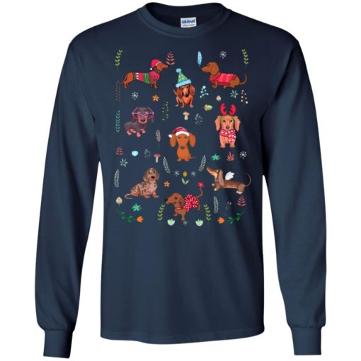 Dachshund christmas christmas pattern dog mom dog lover long sleeve