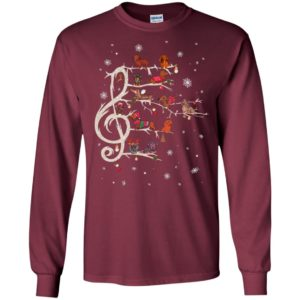 Dachshund christmas music note tree puppy ugly sweater dog lover long sleeve