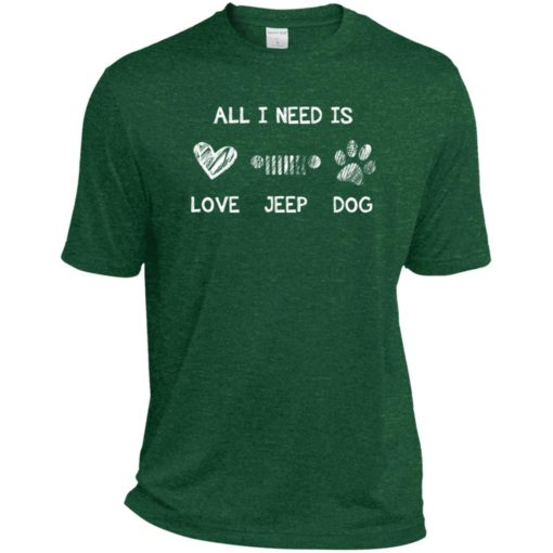 All i need is love jeep and dog sport t-shirt