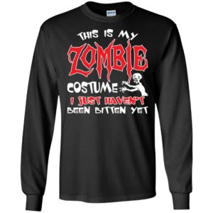 This is my zombie costume funny artwork halloween day long sleeve