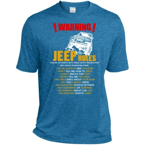 Warning jeep rules don't tell me how to drive sport t-shirt
