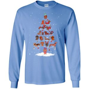 Dachshund christmas tree snow pattern dogs mom dog lover long sleeve