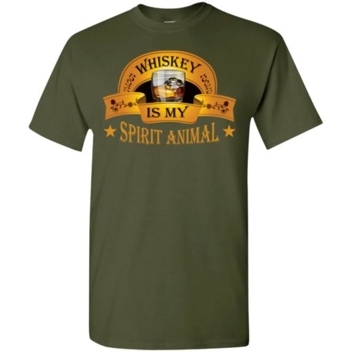 Funny drinking wine gift whiskey is my spirit animal t-shirt