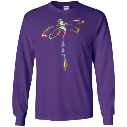 I love you color butterfly long sleeve